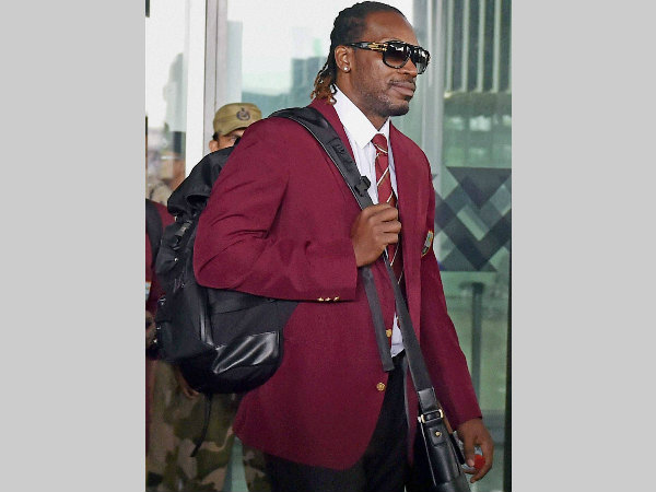 Chris Gayle arrives in Kolkata for World T20, on March 7