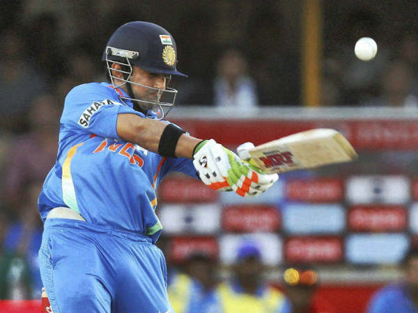 A file picture of Gambhir batting for India