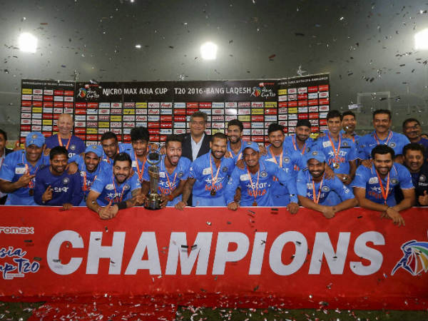 Team India has won its 6th Asia Cup title.