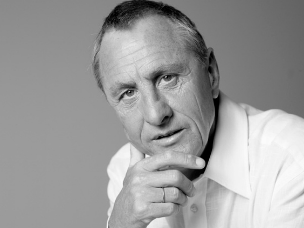 Johan Cruyff. Photo from the player's website