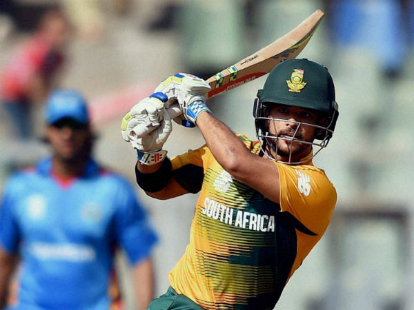 JP Duminy in action against Afghanistan during the World T20 2016 on March 20