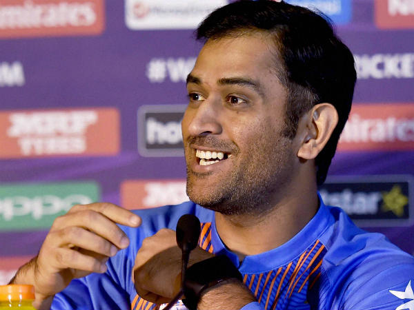 MS Dhoni speaks to the media in Kolkata about World T20