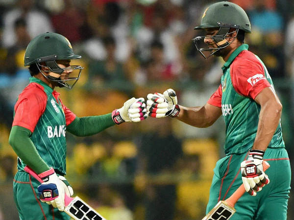 The men who failed to finish the game against India. Rahim (left) and Mahmudullah