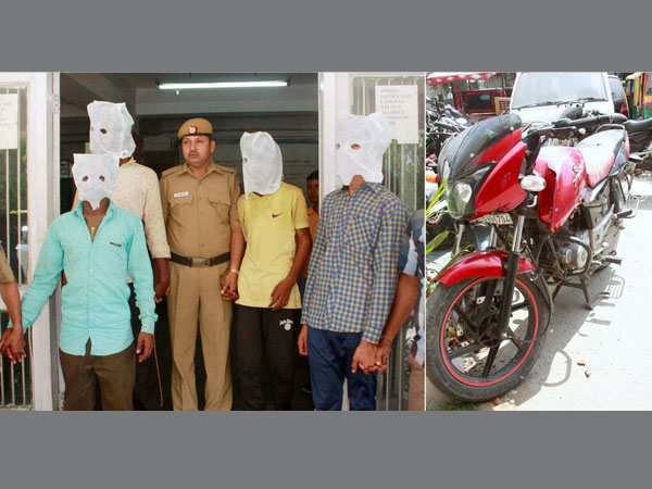 Police arrest on Friday four persons who were allegedly part of a group that beat a 40-year-old dentist Pankaj Narang to death following a dispute after a ball hit the bike (R) of attackers, in west Delhi's Vikaspuri area on Thursday.