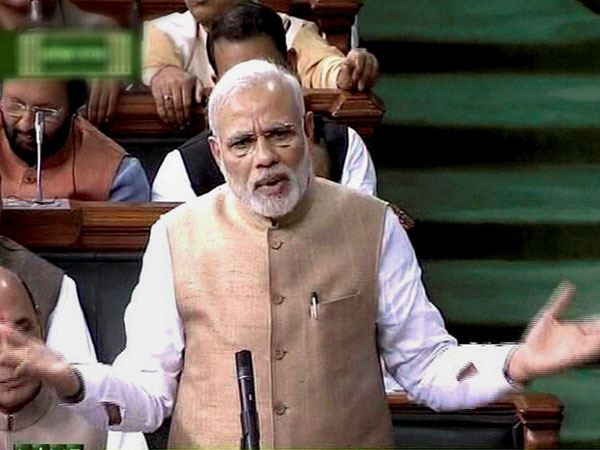 Prime Minister Narendra Modi on Wednesday addressed Rajya Sabha