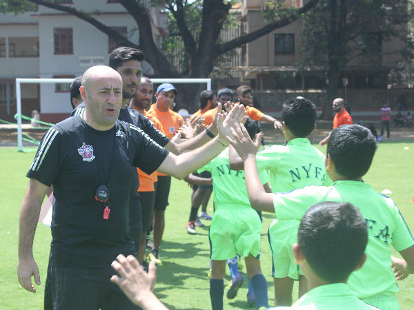 Youngsters at FC Pune City's grassroots development programme