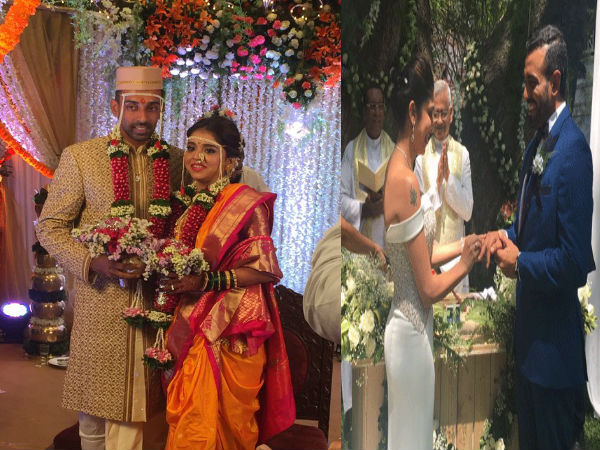 Robin Uthappa and Dhawal Kulkarni both got married in traditional manner.