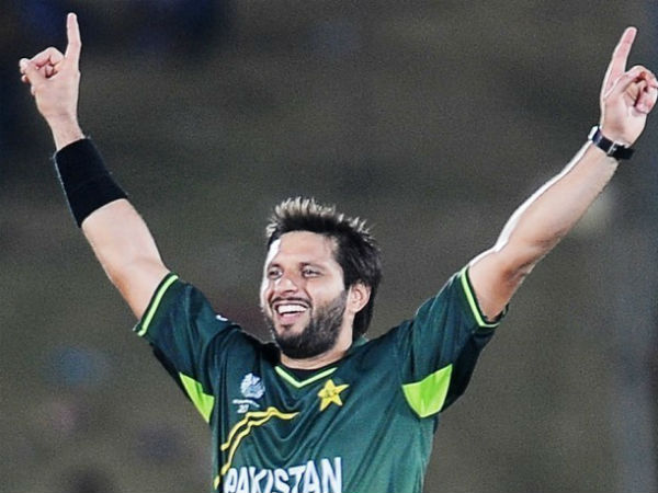 A file picture of Shahid Afridi