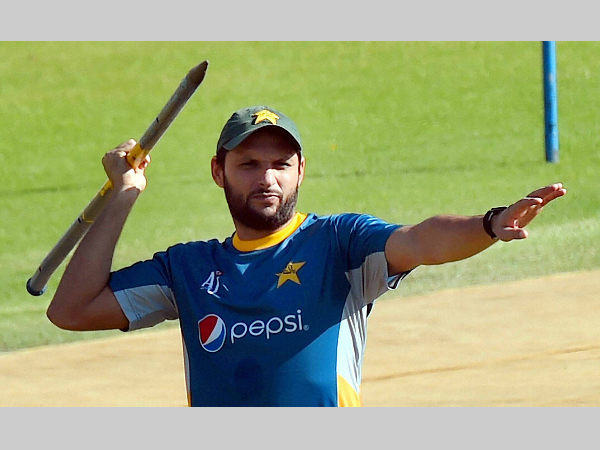 Shahid Afridi at practice during World T20 in Mohali