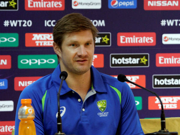 Shane Watson speaks to the media in Dharamsala on Wednesday (March 16)
