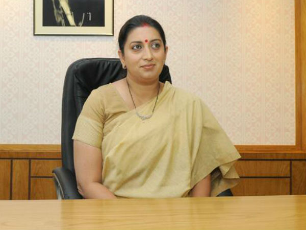 Smriti Irani's convoy met with accident on Saturday night.