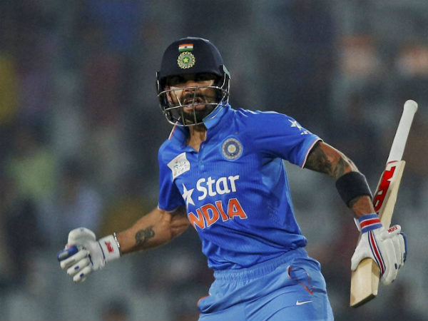 File photo: Virat Kohli celebrates India's win in Asia Cup T20 final against Bangladesh on March 6