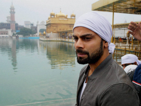 File photo: Virat Kohli at the Golden Temple in Amritsar in February this  year