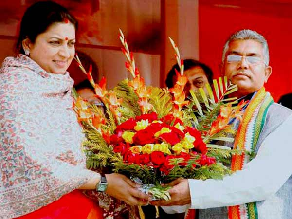 smriti irani and dilip ghosh