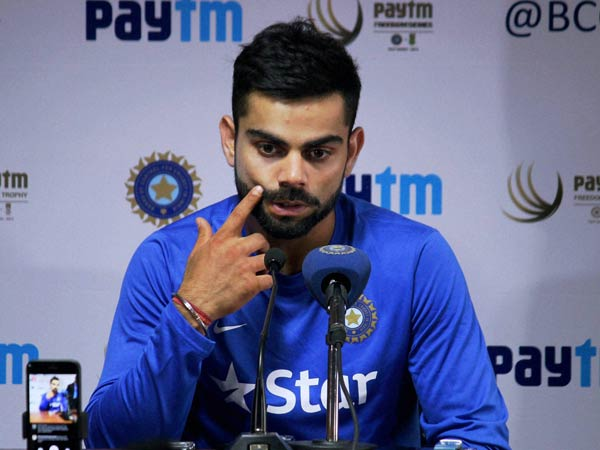 Virat Kohli was team's last hope but he too failed with the bat.