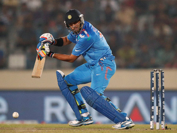 Yuvraj Singh hit the winning four for India in the game.