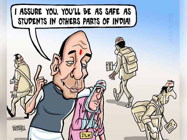 Rajnath's concept of save the students
