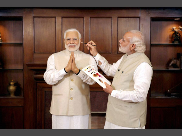 Modi gives finishing touches to this wax statue
