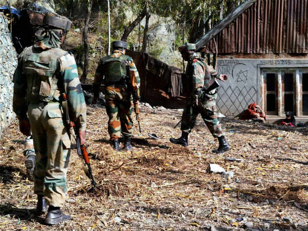 Indian Army demining farmland near LoC in Rajouri village