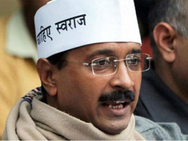 Shoe hurled at Kejriwal, AAP blames BJP