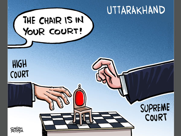 Cartoon of the Day: Uttarakhand: 'Court'ing the Chair