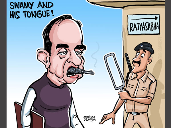 Cartoon of the Day: Subramanian Swamy trains gun at Congress over AgustaWestland