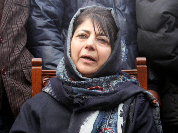 Mehbooba sworn-in as J&K CM