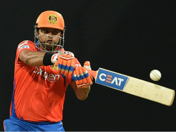 Gujarat Lions' captain Suresh Raina in action during IPL 2016