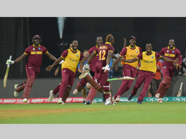 A file picture of West Indies players celebrating their win at World T20 2016