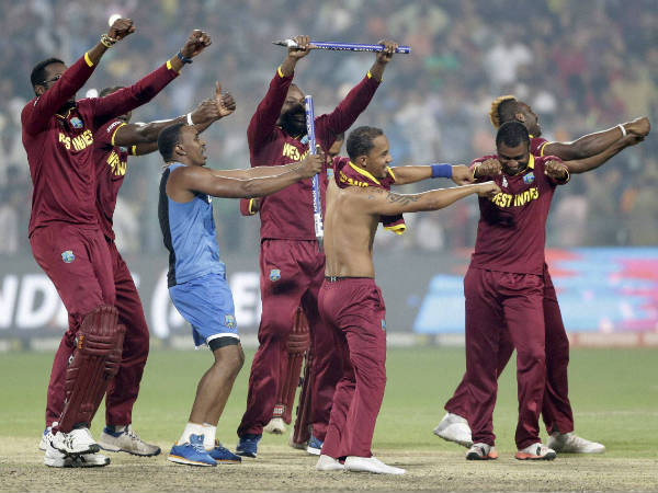 'Champion Dance' for West Indies players after claiming the World T20 trophy