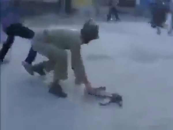 CRPF jawan brutally beaten up by mob in Kashmir
