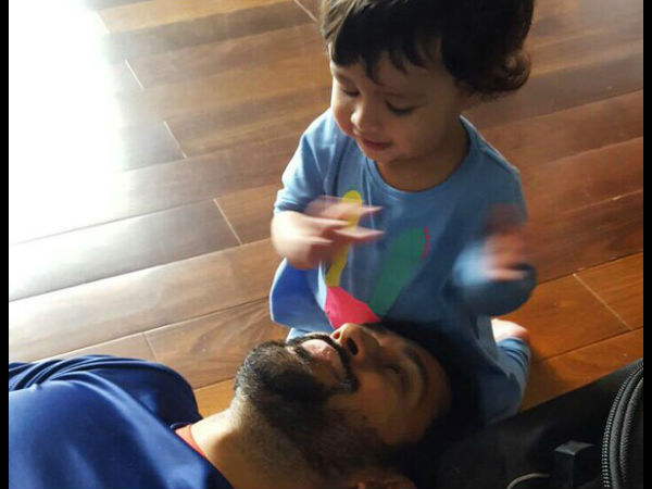 In pics: MS Dhoni playing with Ziva