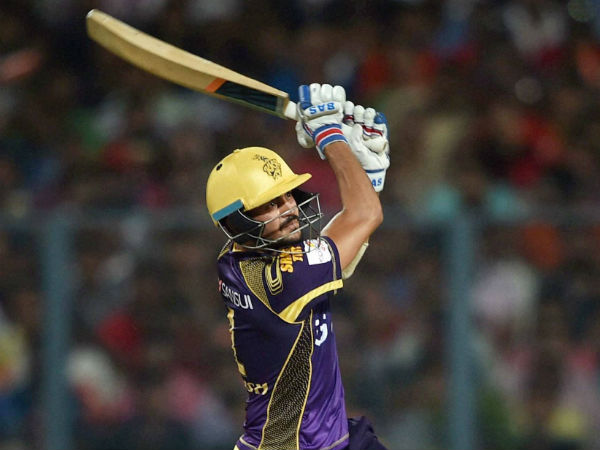 Manish Pandey plays a shot against Mumbai Indians