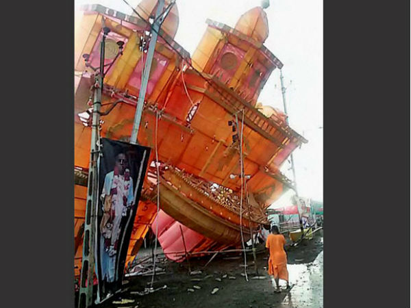 Pandal collapsed after heavy thunderstorm in Ujjain