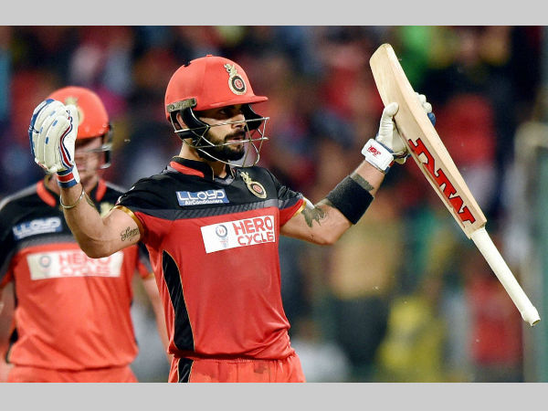 Captain Virat Kohli reacts after guiding RCB to victory