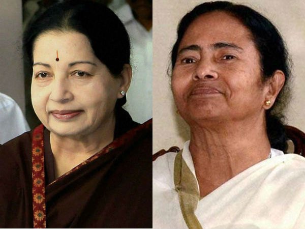 Cong ousted in Assam, Kerala; Jaya, Mamata retain power.