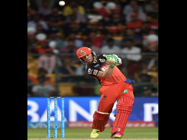 AB de Villiers in action for Royal Challengers Bangalore (RCB) during this year's IPL