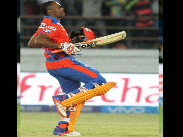 A file picture of Dwayne Bravo in Gujarat Lions colours during IPL 2016