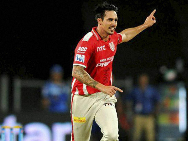A file picture of Mitchell Johnson in KXIP colours during IPL