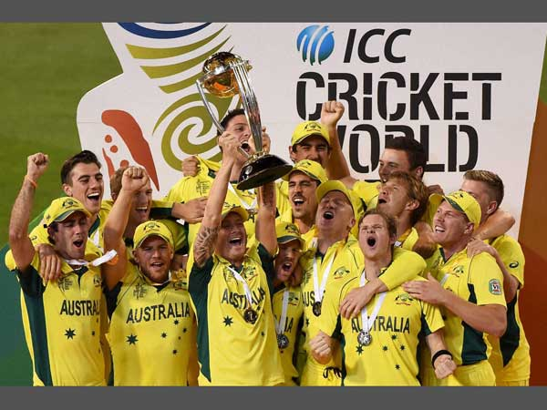 File photo: Australians celebrate their World Cup 2015 win