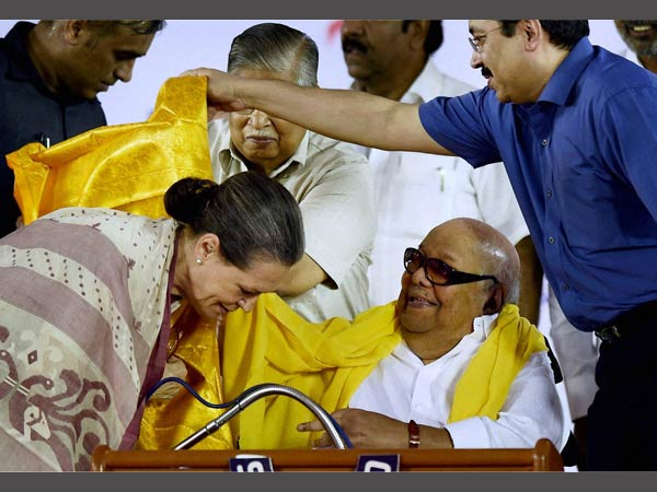 sonia gandhi and karunanidhi