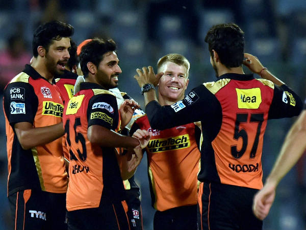 SRH players celebrate their win over KKR in Eliminator on Wednesday (May 25)