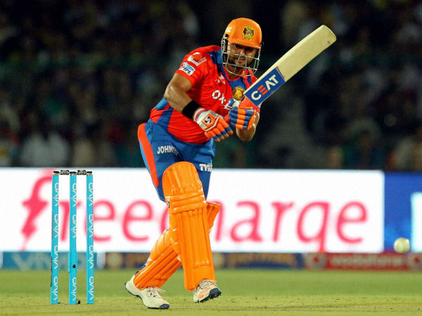 Lions' captain Suresh Raina in action during IPL 2016