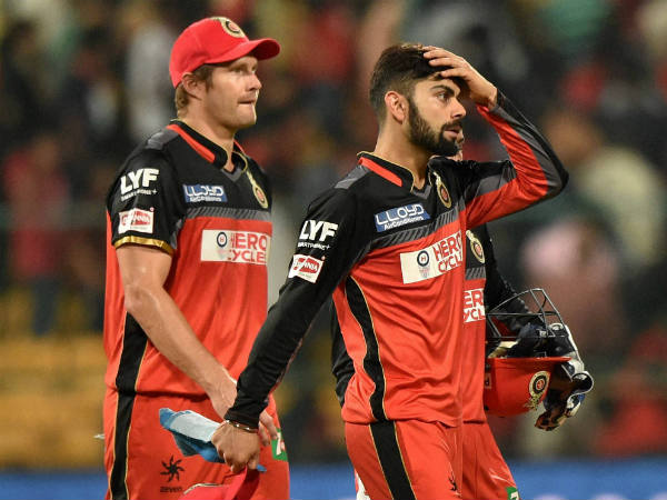 File photo: Virat Kohli (right) is one over rate offence away from suspension. Also seen is team-mate Shane Watson