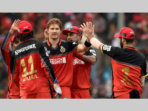 File photo: RCB players celebrate a wicket during IPL 2016