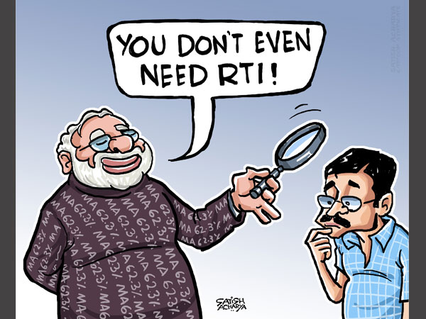 Cartoon of the Day: Modi eligibility row and the RTI Act