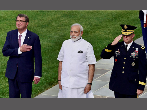 PM Modi with US Defence Secretary Ashton Carter