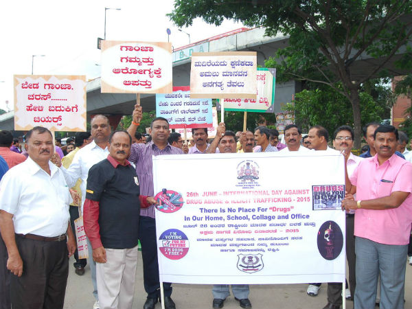Bengalureans come together to fight against rising drug abuse cases.