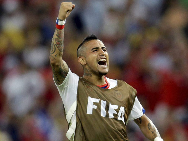 File photo: Chile's Arturo Vidal scored a controversial penalty