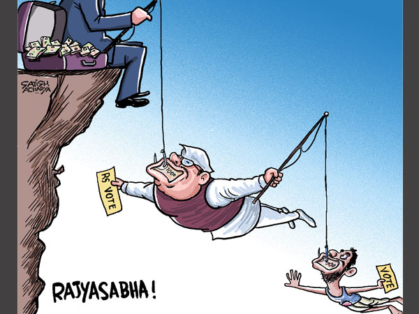 Cartoon of the Day: The 'Fishy' tales of the Rajya Sabha
